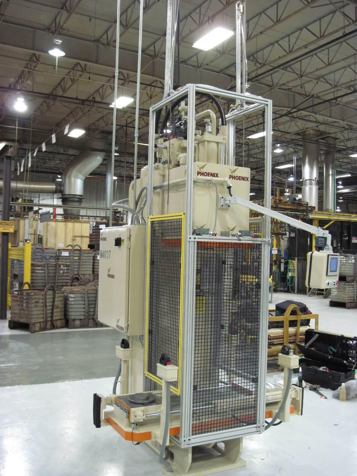 30 Ton Pressing Hydraulic C-Frame w/Shuttle Table