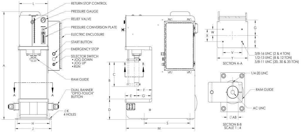 Custom C Frame Hydraulic Bench Presses Phoenix Hydraulic