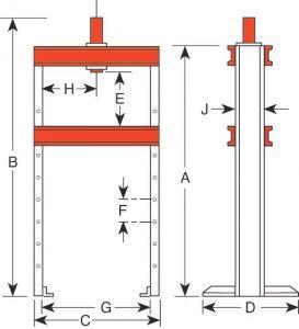 Custom Hydraulic H-Frame Press