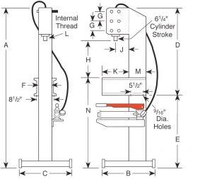 25 Ton Hydraulic C-Frame Press