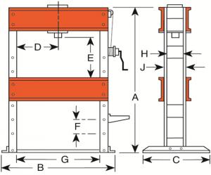 150 - 200 Ton Hydraulic H-Frame Press
